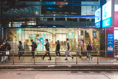 Street view in Hong Kong Stock Photo