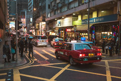 Street view in Hong Kong. March, 2017. People on street after work in Hong Kong Stock Images