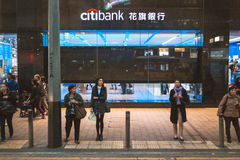 Street view in Hong Kong. March, 2017. People on street after work in Hong Kong Stock Photography