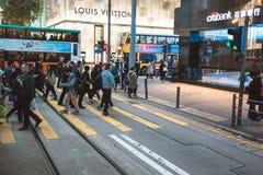 Street view in Hong Kong Stock Image