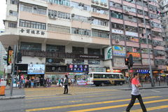 Street view in Hong Kong Mong Kok Area Stock Photography
