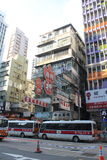 Street view in Hong Kong Mong Kok Area Royalty Free Stock Photos