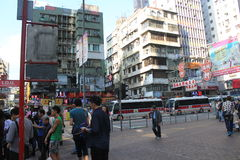 Street view in Hong Kong Mong Kok Area Royalty Free Stock Images