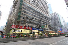 Street view in Hong Kong Mong Kok Area Royalty Free Stock Image