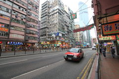 Street view in Hong Kong Mong Kok Area Royalty Free Stock Photography