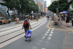 Street view in Hong Kong North Point Stock Photo
