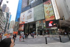 Street view in Hong Kong North Point Stock Photography