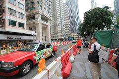 Street view in Hong Kong Wan Chai Stock Photography