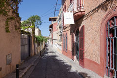 Street view by Hostal Corona Royalty Free Stock Images