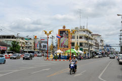 Street View of Hua Hin City. Thailand royalty free stock image