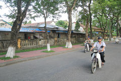 Street view in Hue, Vietnam Royalty Free Stock Image