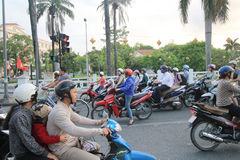 Street view in Hue, Vietnam Royalty Free Stock Images
