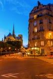 Street view on the Ile de la Cite, Paris, France Stock Images