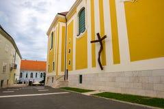 Free Street View In Szekesfehervar Old Town, Hungary Stock Image - 155540621