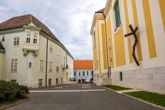 Free Street View In Szekesfehervar Old Town, Hungary Stock Photos - 155540633