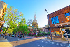 Street view on Independence Hall in Philadelphia PA Royalty Free Stock Image