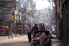 Street view  in India Royalty Free Stock Images