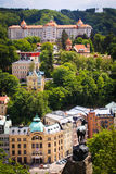 Street view in Karlovy Vary, hotels in Karlovy Vary Stock Photography