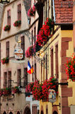 Street view in Kaysersberg, Alsace, France Royalty Free Stock Photo