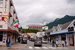 Street view of Ketchikan Stock Photos