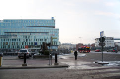 Street view at Kungsbron downtown Stockholm, Sweden Royalty Free Stock Photos