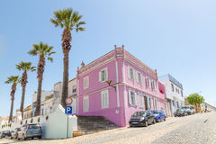Street view Lagos Portugal. Lagos, Portugal - April, 18, 2017: Street view ancient center of Lagos, Algarve in Portugal Royalty Free Stock Photography
