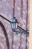 Street view and lamp with alsace building Strasbourg Royalty Free Stock Images