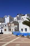 Street view in Las Playitas village on Fuerteventura island Royalty Free Stock Photos