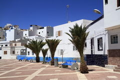 Street view in Las Playitas village on Fuerteventura island Stock Photography