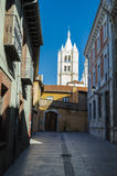 Street view. In Leon, Spain Royalty Free Stock Photography