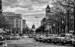 Street view and life near Capitol Building, Washington Monument and Holocaust Memorial Museum. Washington DC, USA. Street view and life near Capitol Building Royalty Free Stock Photo