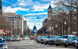 Street view and life near Capitol Building, Washington Monument and Holocaust Memorial Museum. Washington DC, USA. Street view and life near Capitol Building Royalty Free Stock Photography