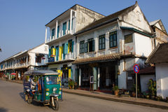 Street view in Luang Phabang, Laos Stock Images
