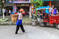 The street view in luoba town,sichuan,china Stock Photos