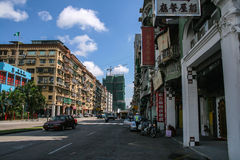 The street view in macao Royalty Free Stock Photo