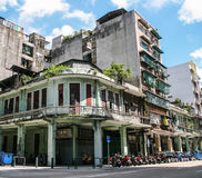 The street view in macao Royalty Free Stock Photography