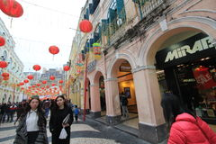 Street view in Macau Stock Photography