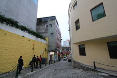 Street view in Macau Stock Photo