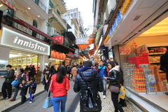 Street view in Macau Royalty Free Stock Photography