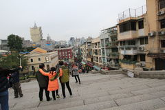Street view in Macau Royalty Free Stock Photos