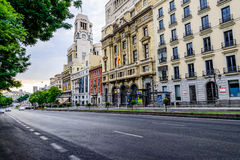 Street view of Madrid, Spain Stock Photography