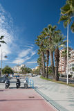 Street view of Malaga Stock Image