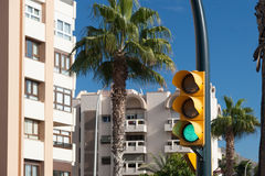 Street view of Malaga Stock Photo