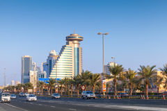 Street view of Manama city,Capital of Bahrain Kingdom Royalty Free Stock Photography