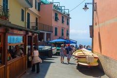 Street view in Manarola, Cinque Terre, Italy Royalty Free Stock Photos