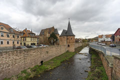 Street view of a medieval town Buedingen Royalty Free Stock Images