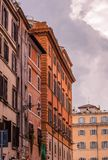 Street view and Mediterranean architecture in Rome, Italy stock images