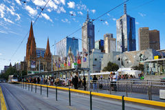 Street view of melbourne Royalty Free Stock Photo