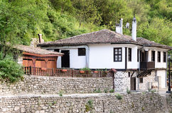 A street view of Melnik in Bulgaria Stock Images