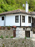 Street view of Melnik traditional architecture, Bulgaria Royalty Free Stock Image
